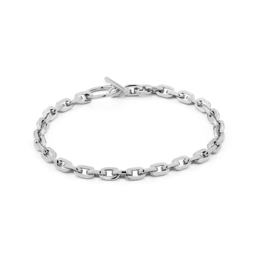 Load image into Gallery viewer, Silver Chain Hook Bracelet