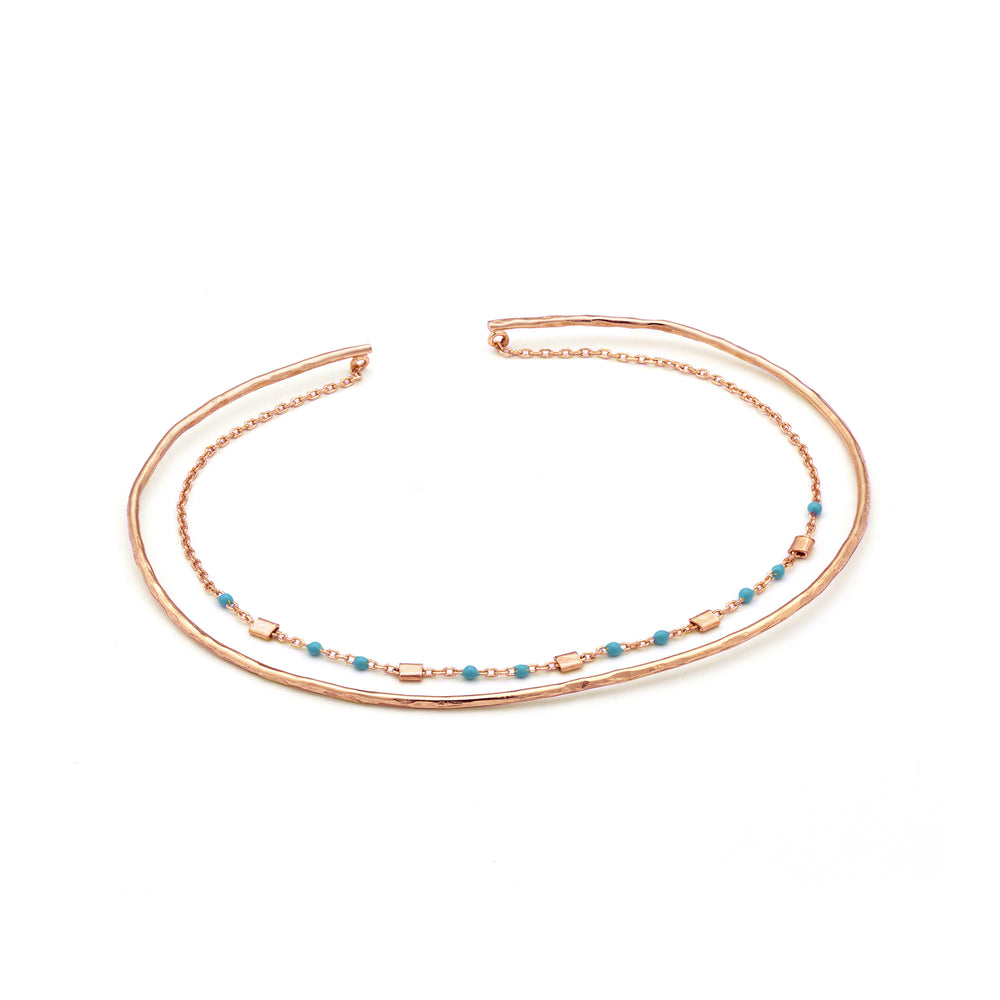Rose Gold Dotted Double Bracelet