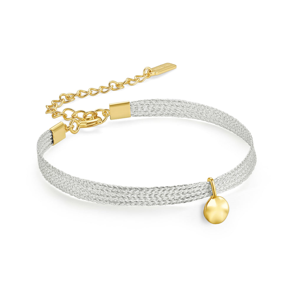 Gold Ripple Ribbon Bracelet