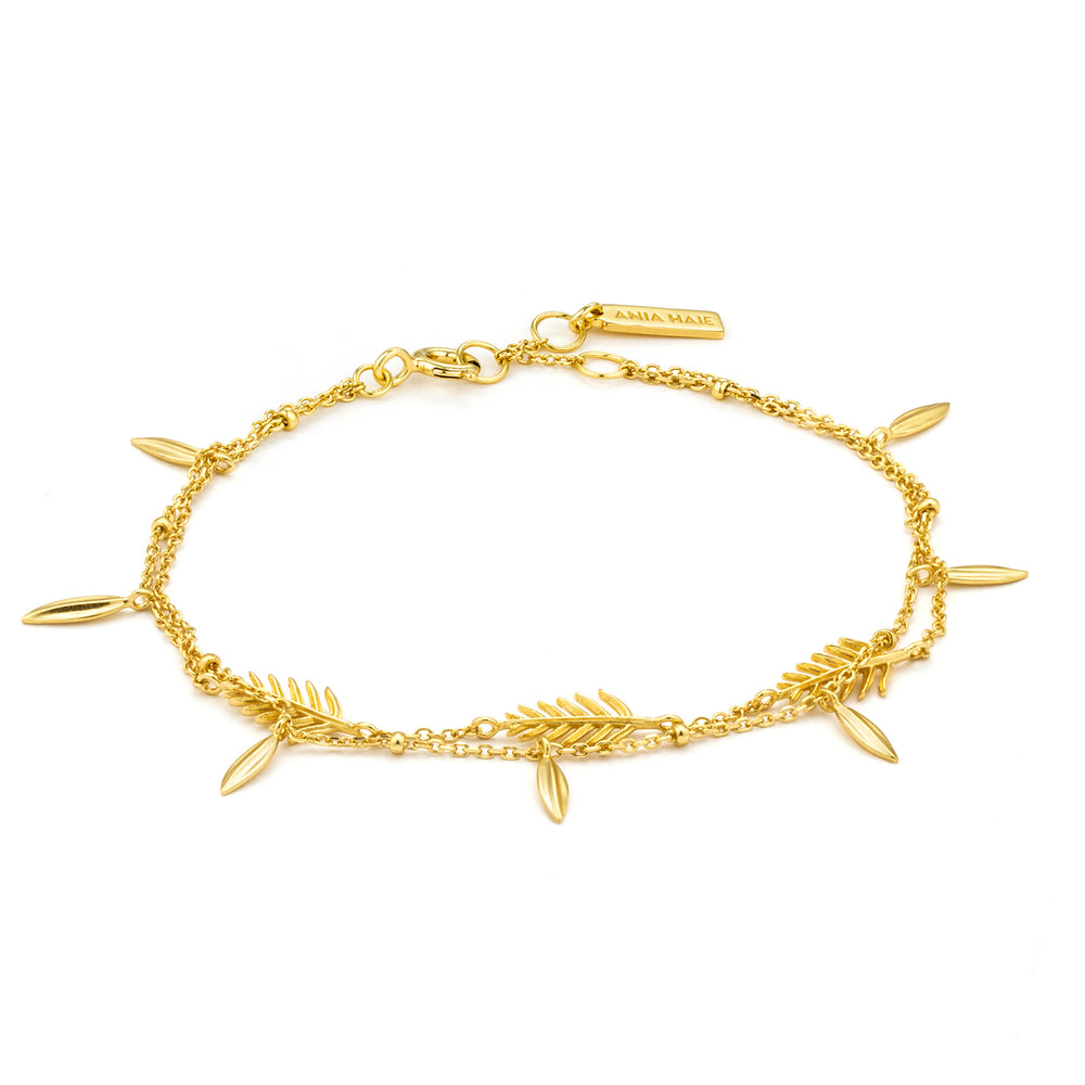 Gold Tropic Double Bracelet