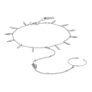 Load image into Gallery viewer, Silver Tropic Hand Chain Bracelet