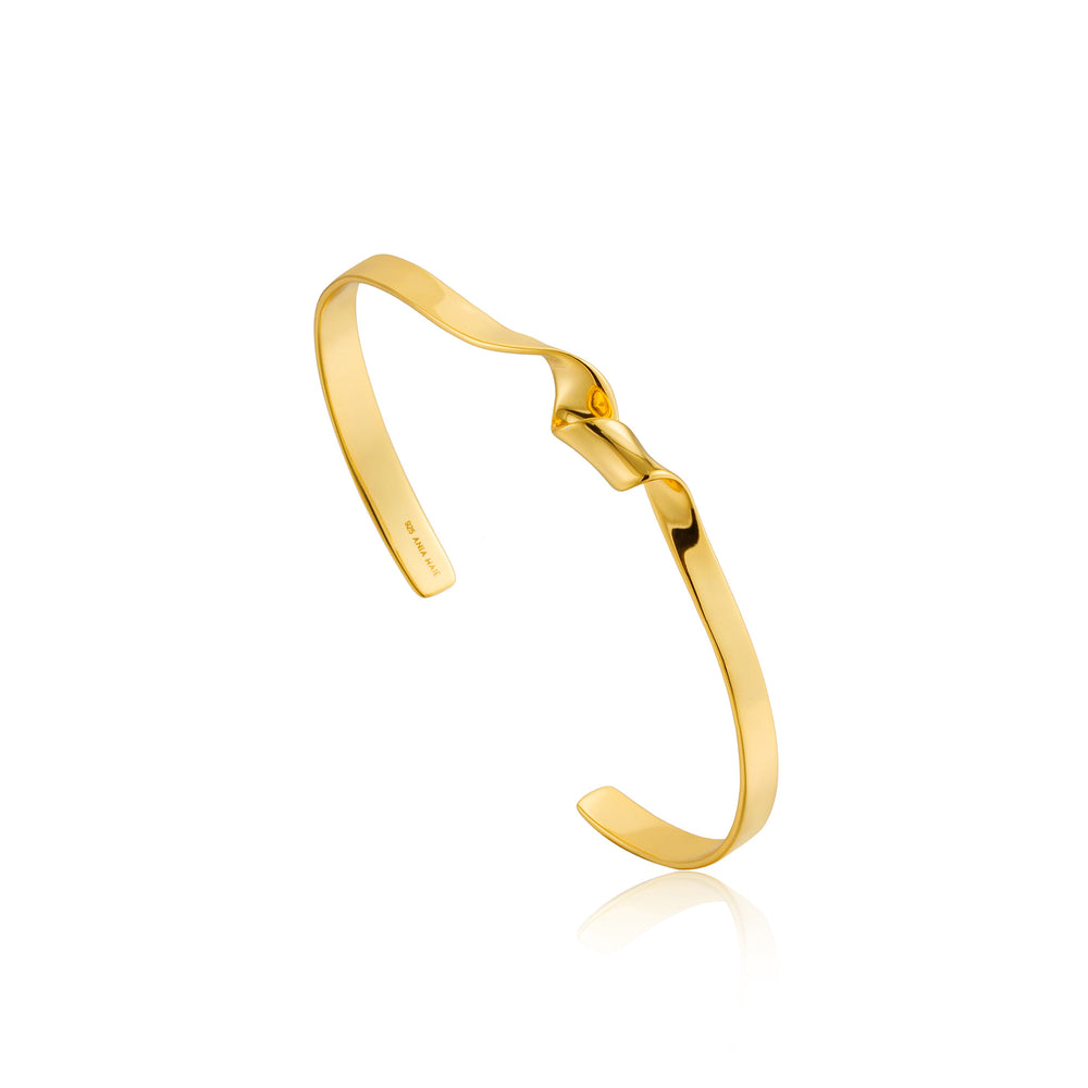 Load image into Gallery viewer, Gold Twister Cuff