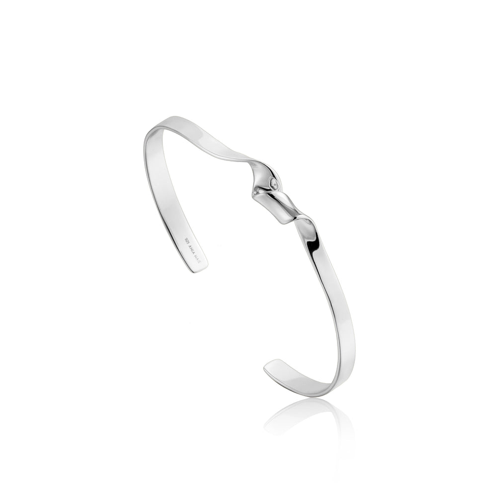 Load image into Gallery viewer, Silver Twister Cuff