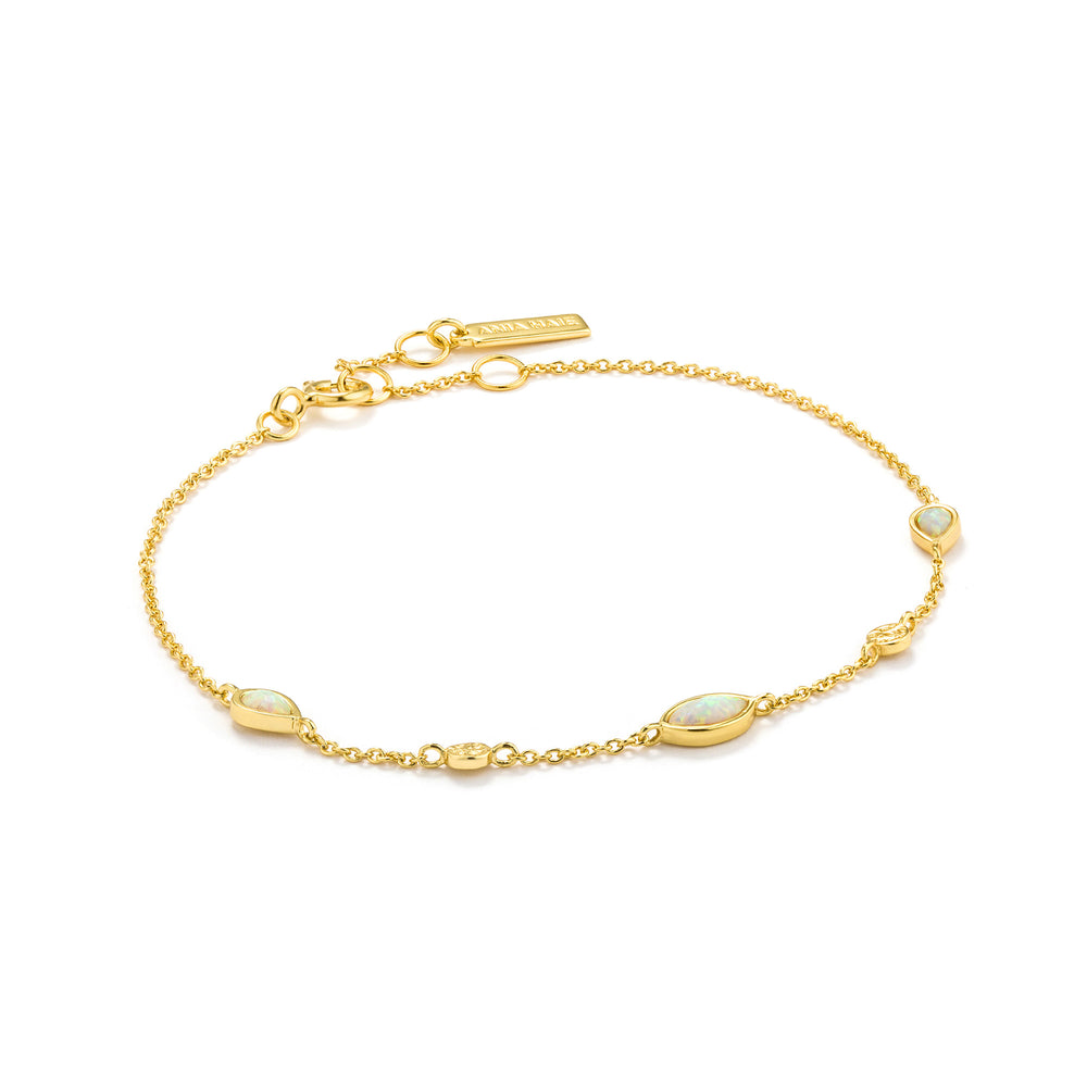 Load image into Gallery viewer, Opal Colour Gold Bracelet