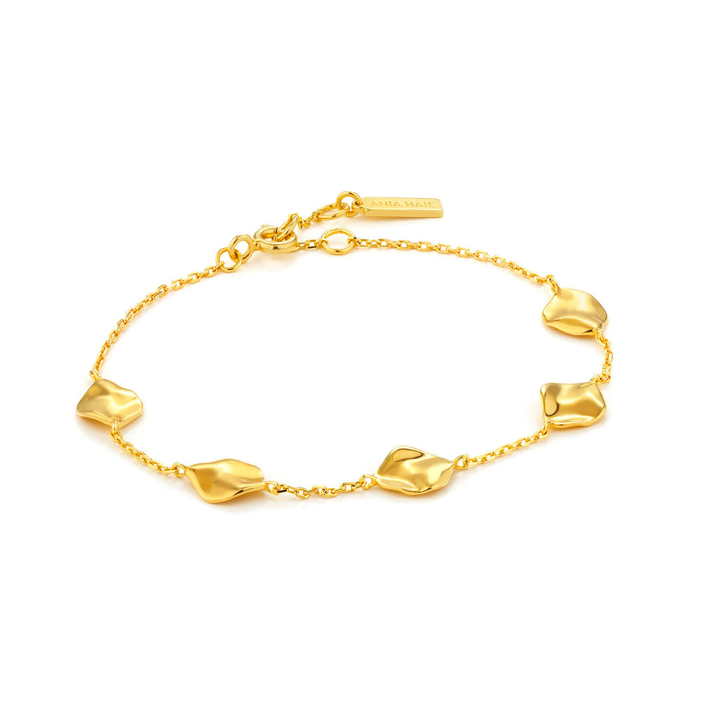 Gold Crush Multiple Discs Bracelet