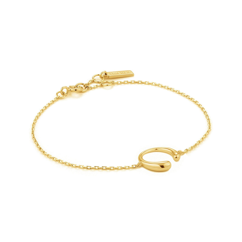 Load image into Gallery viewer, Gold Luxe Curve Bracelet