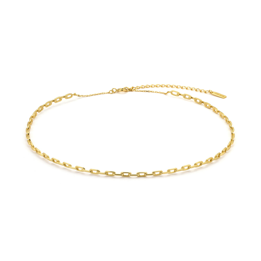 Gold Chain Solid Choker