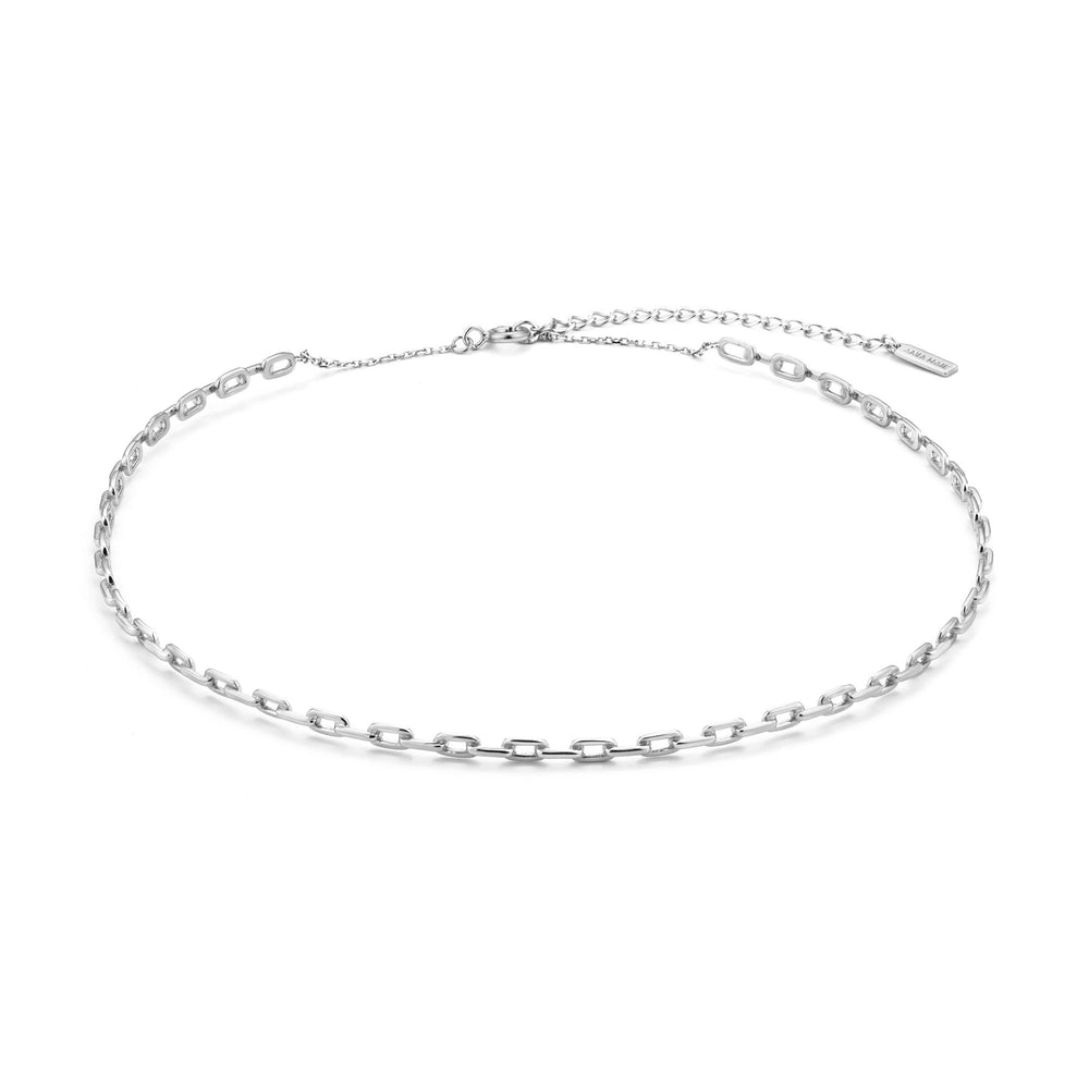 Silver Chain Solid Choker