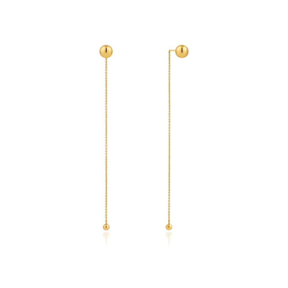 Load image into Gallery viewer, Gold Orbit Drop Earrings