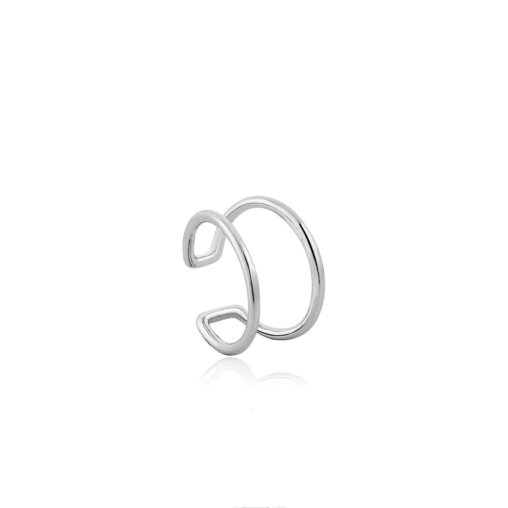 Load image into Gallery viewer, Silver Modern Ear Cuff