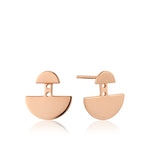 Rose Gold Geometry Ear Jackets