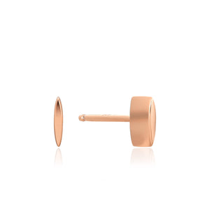 Rose Gold Square Stud Earrings