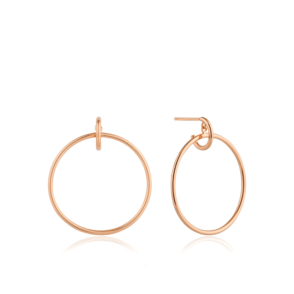 Rose Gold Front Hoop Earrings