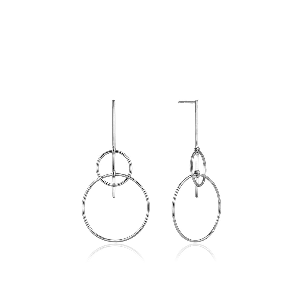 Silver Solid Drop Earrings