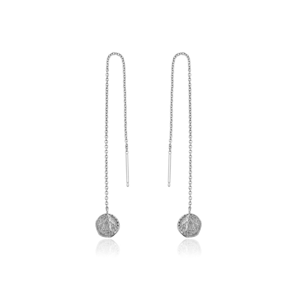 Load image into Gallery viewer, Silver Deus Threader Earrings