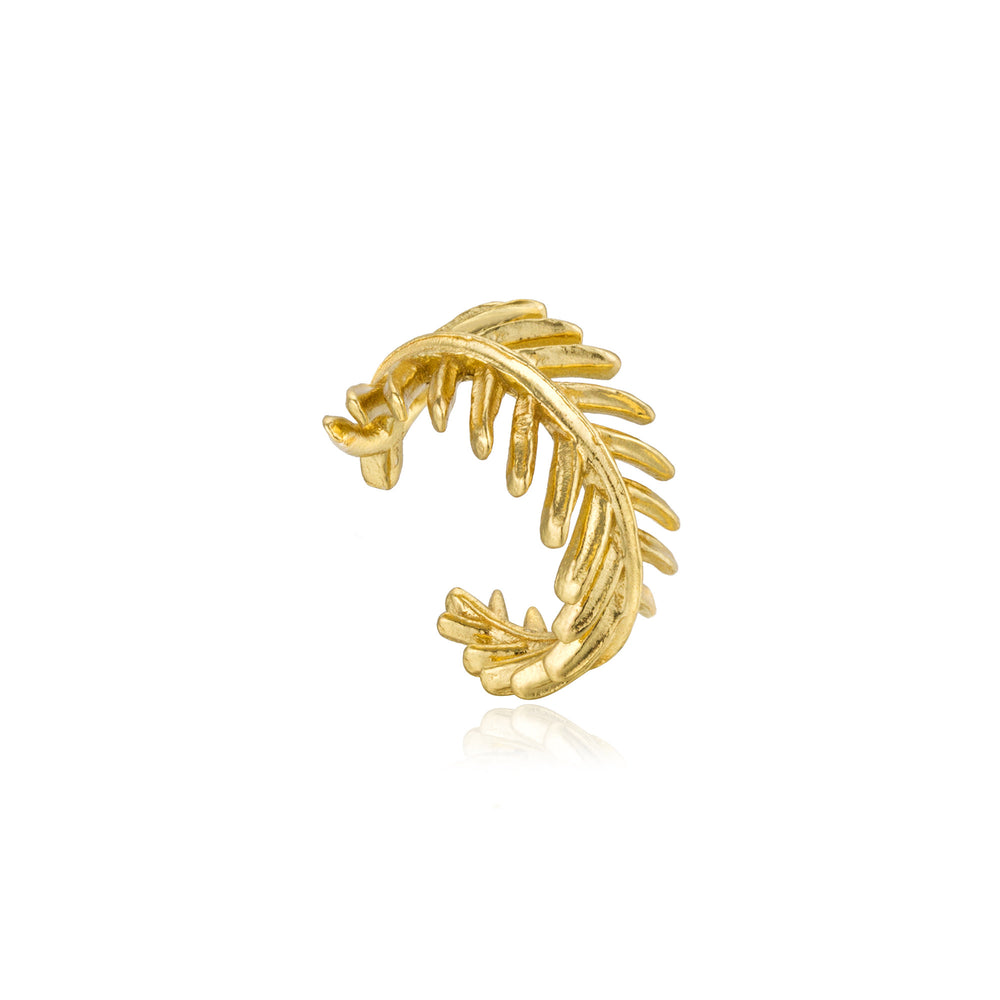 Gold Palm Ear Cuff
