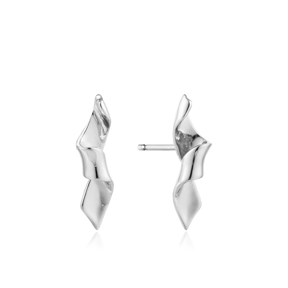 Silver Helix Stud Earrings