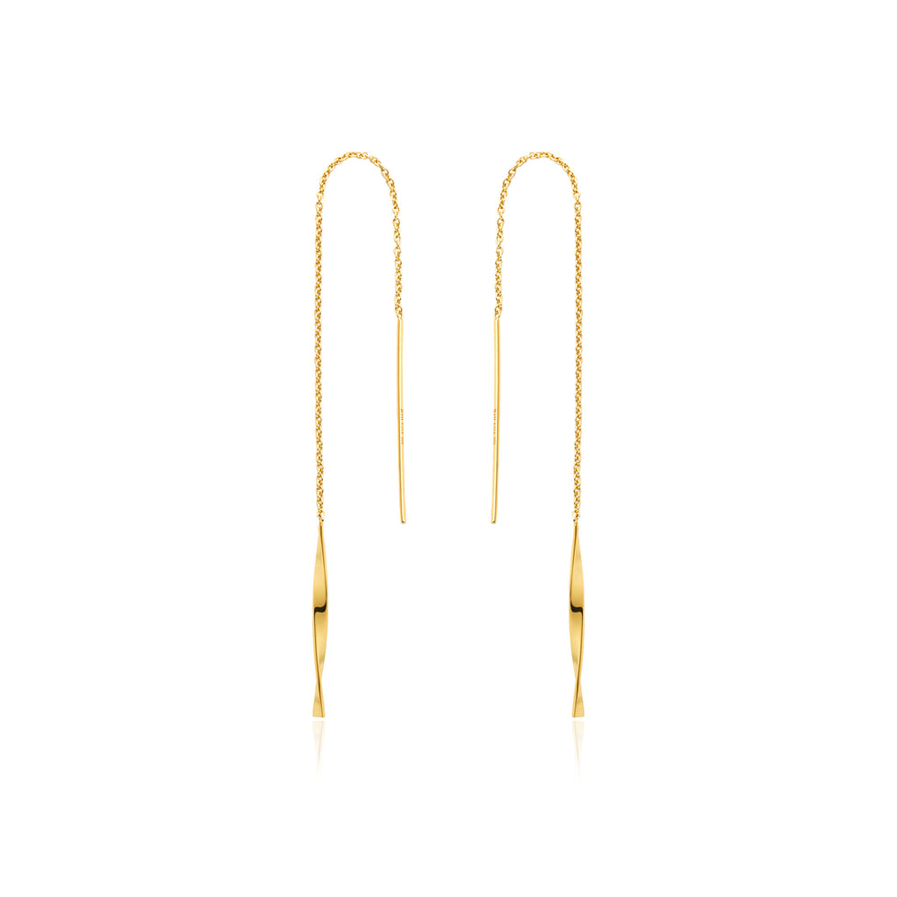 Gold Helix Threader Earrings