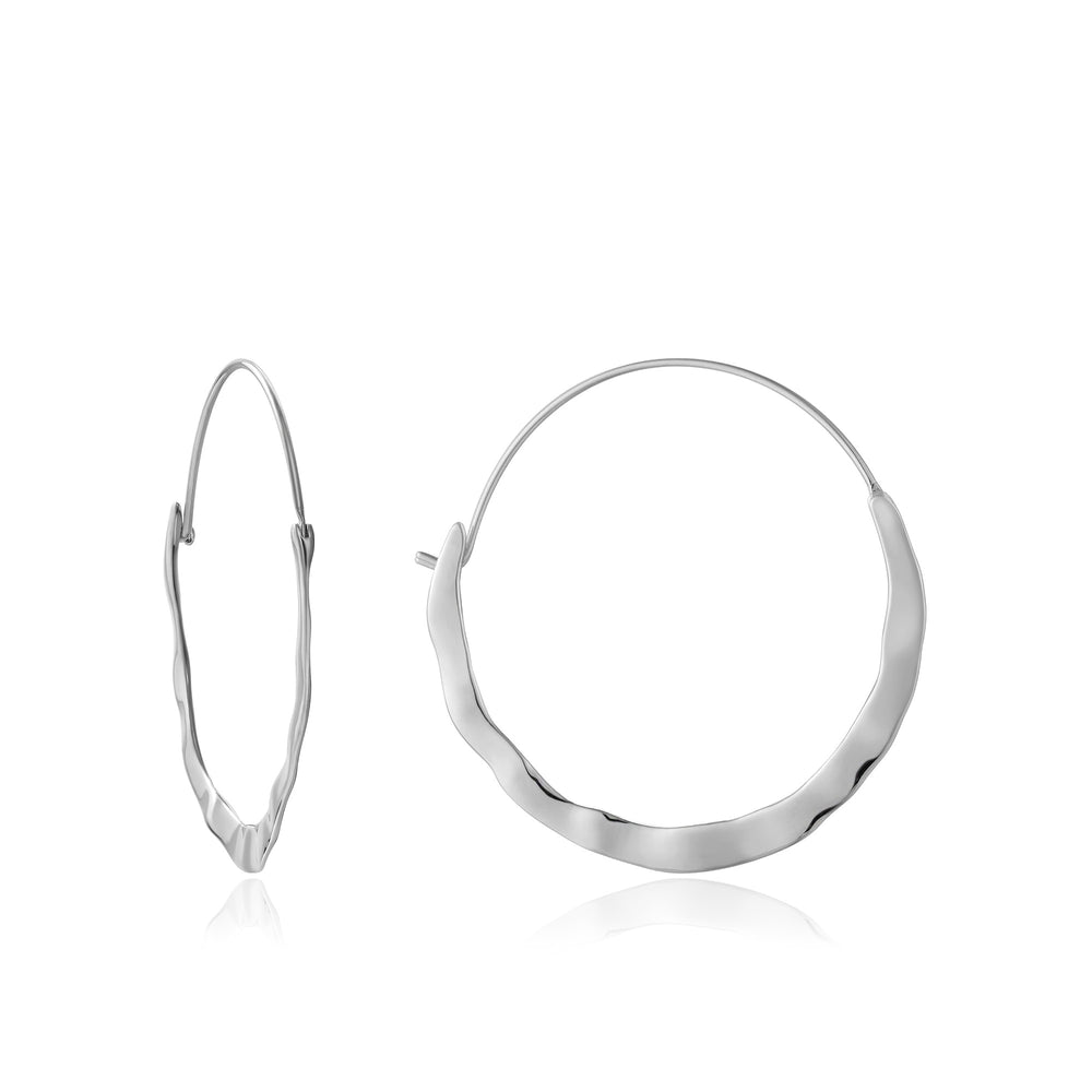 Silver Crush Hoop Earrings