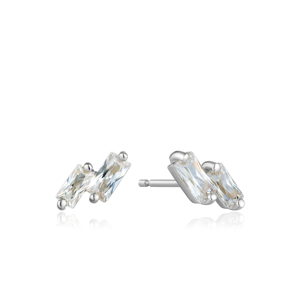Silver Glow Stud Earrings