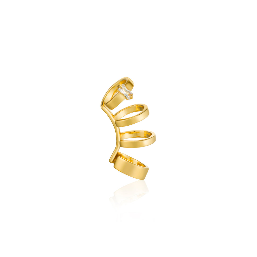 Gold Glow Crawler Ear Cuff