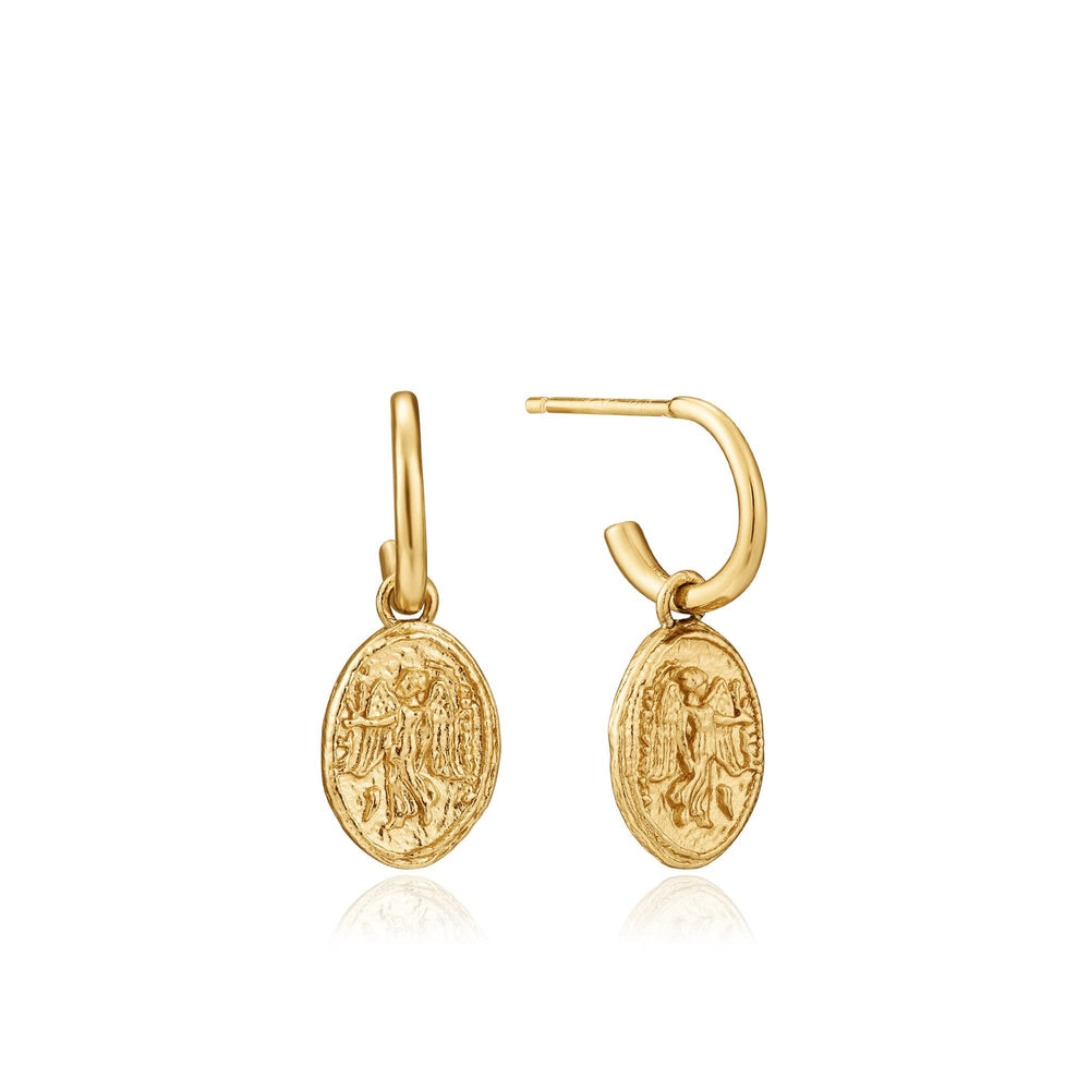 Gold Nika Mini Hoop Earrings