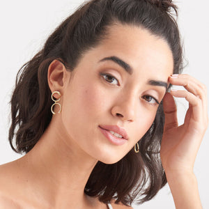 Gold Luxe Double Curve Earrings