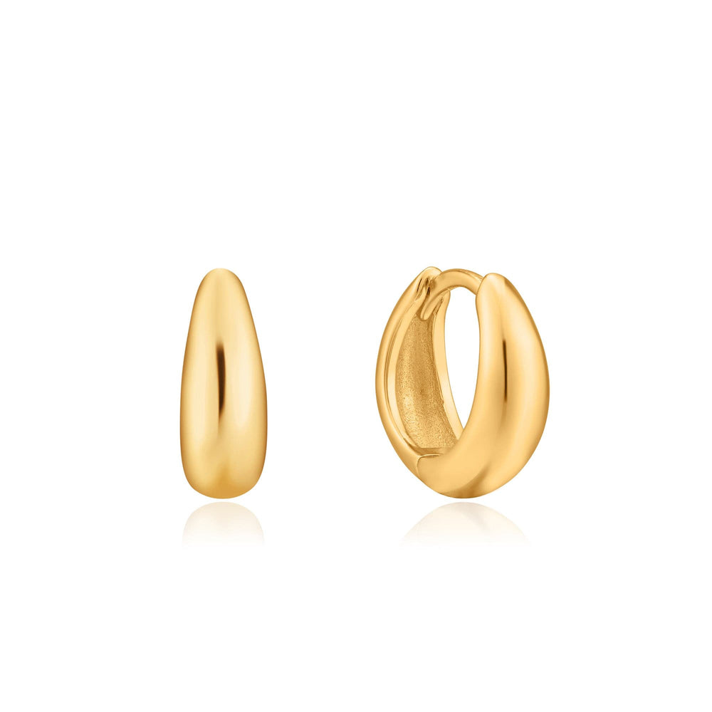 Gold Luxe Huggie Hoop Earrings