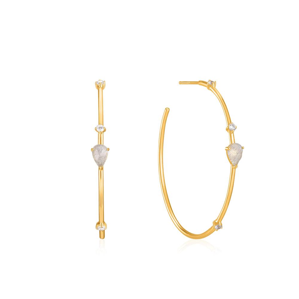 Gold Midnight Hoop Earrings