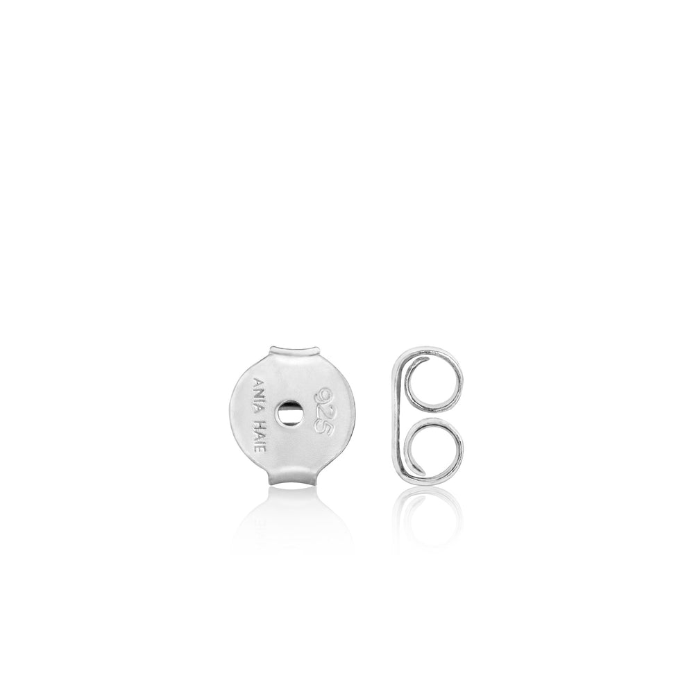 Silver Semi-Circle Stud Earrings