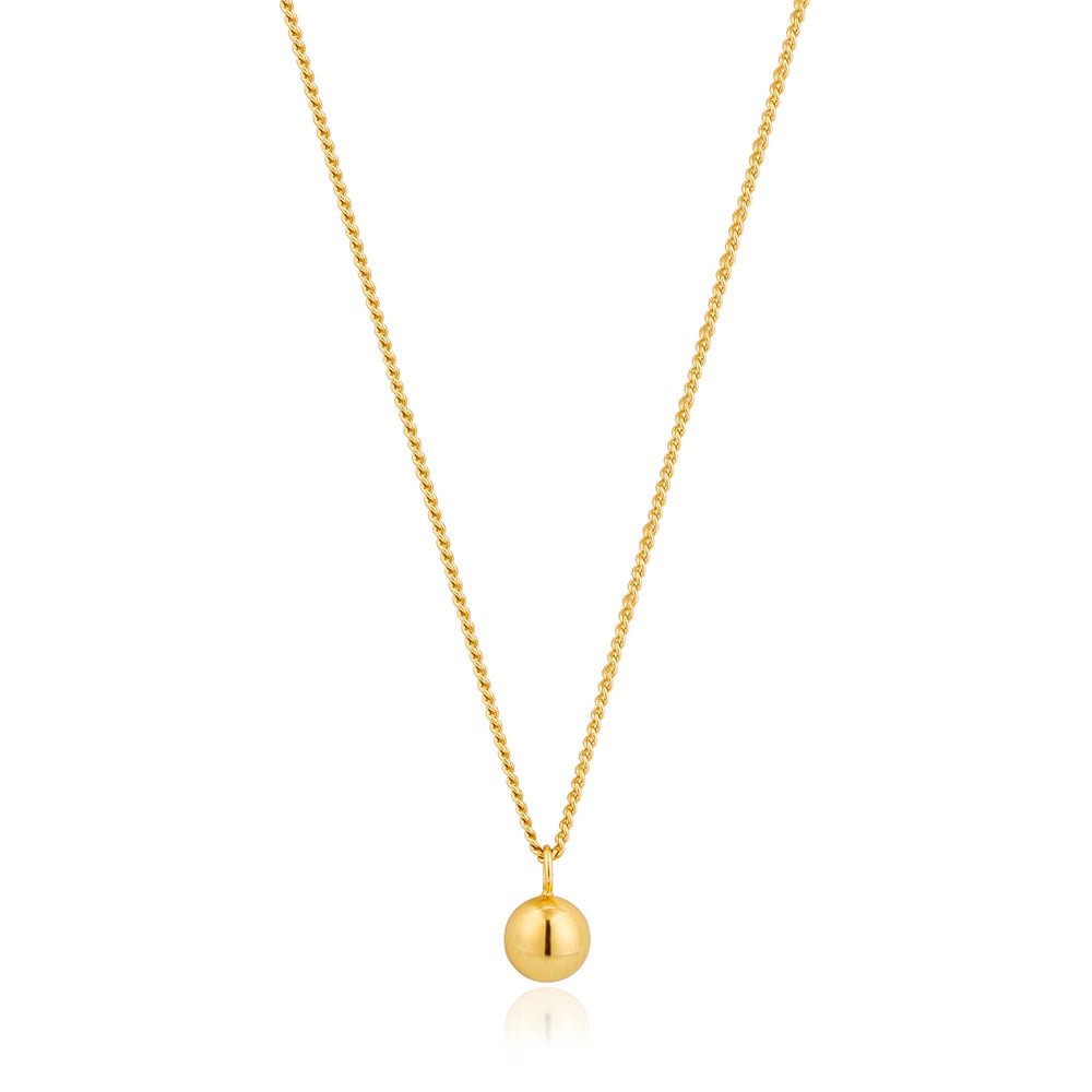 Gold Orbit Ball Necklace