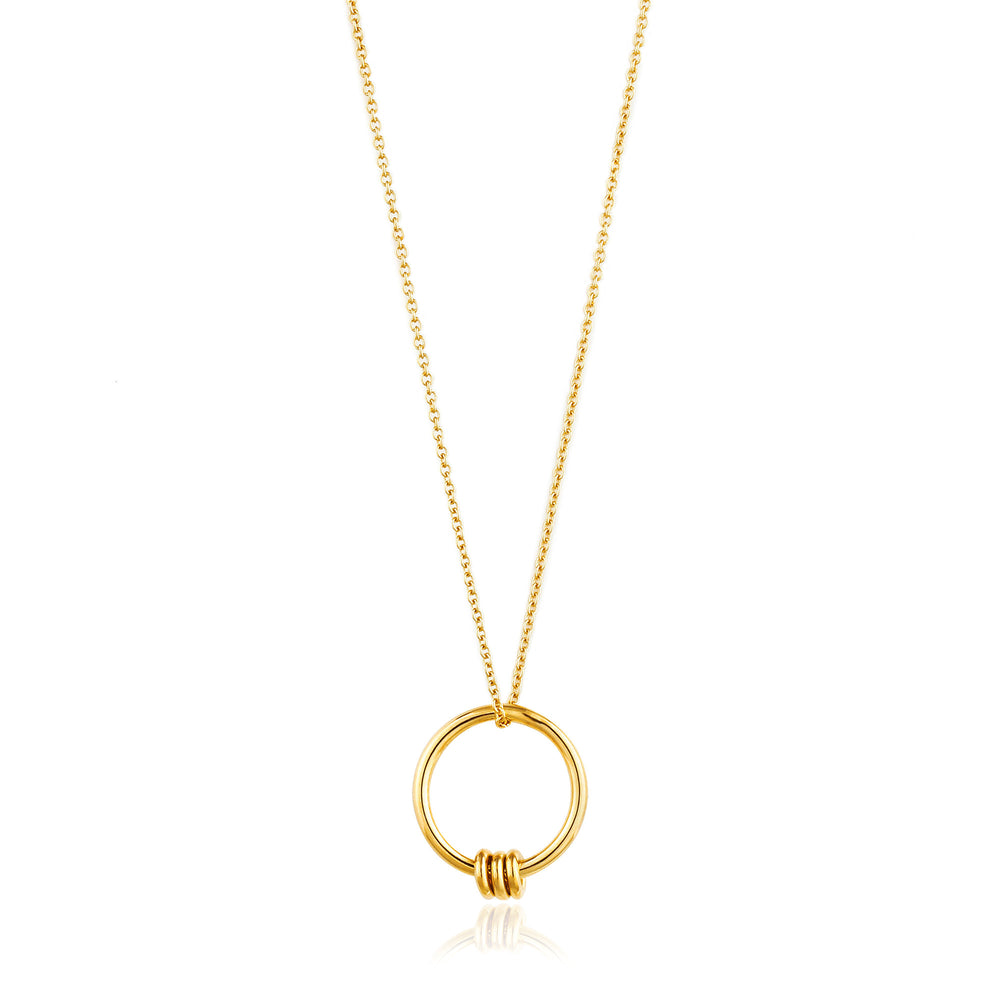 Gold Modern Circle Necklace