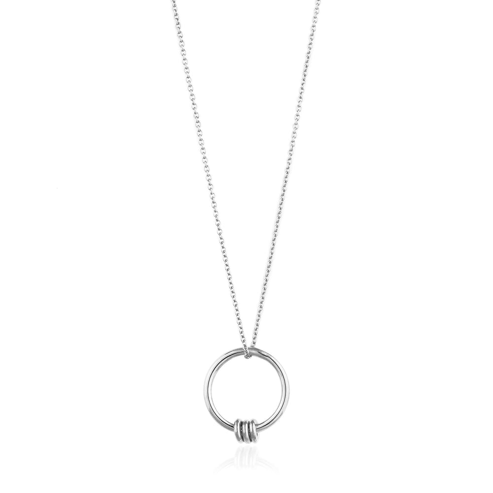 Silver Modern Circle Necklace