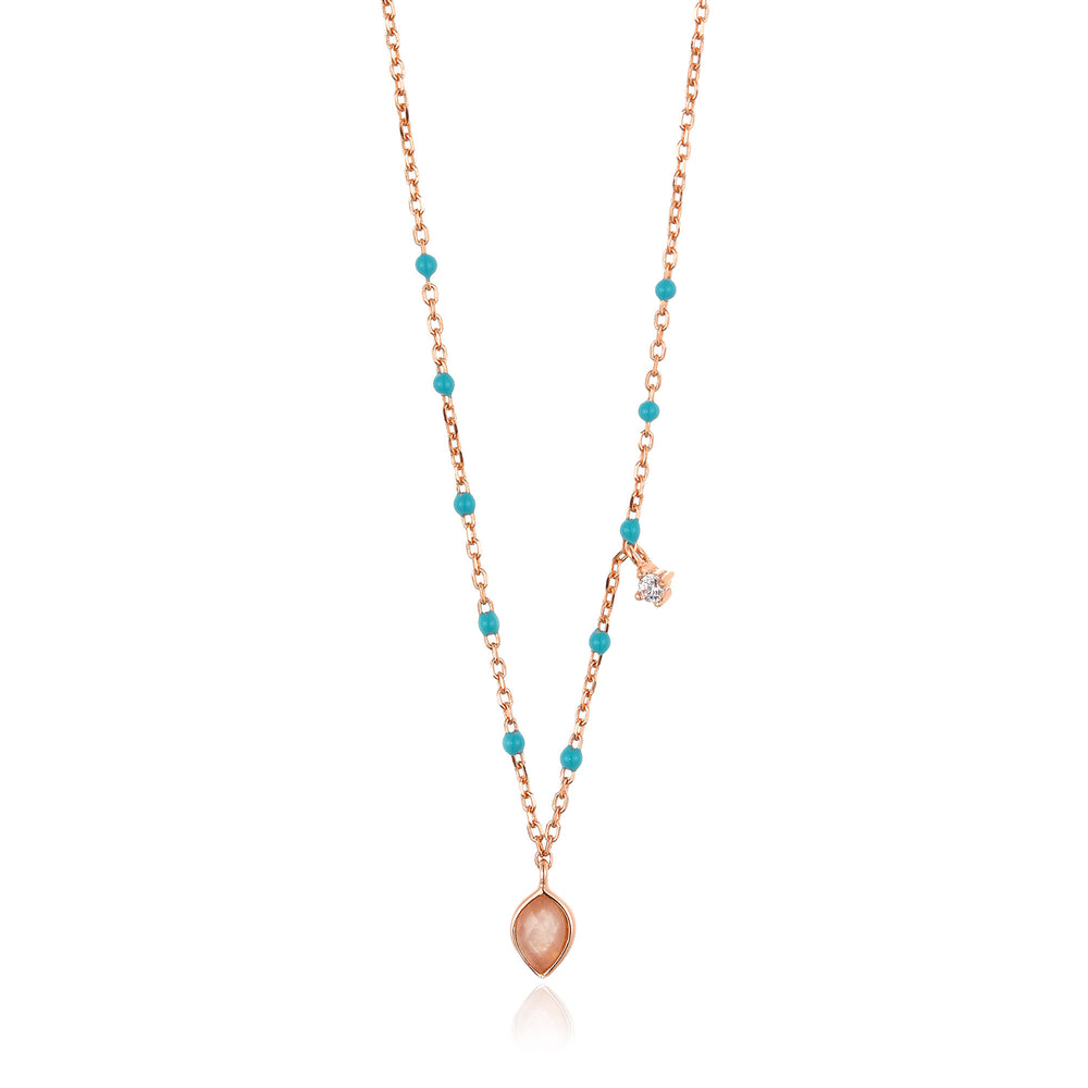 Rose Gold Dotted Pendant Necklace