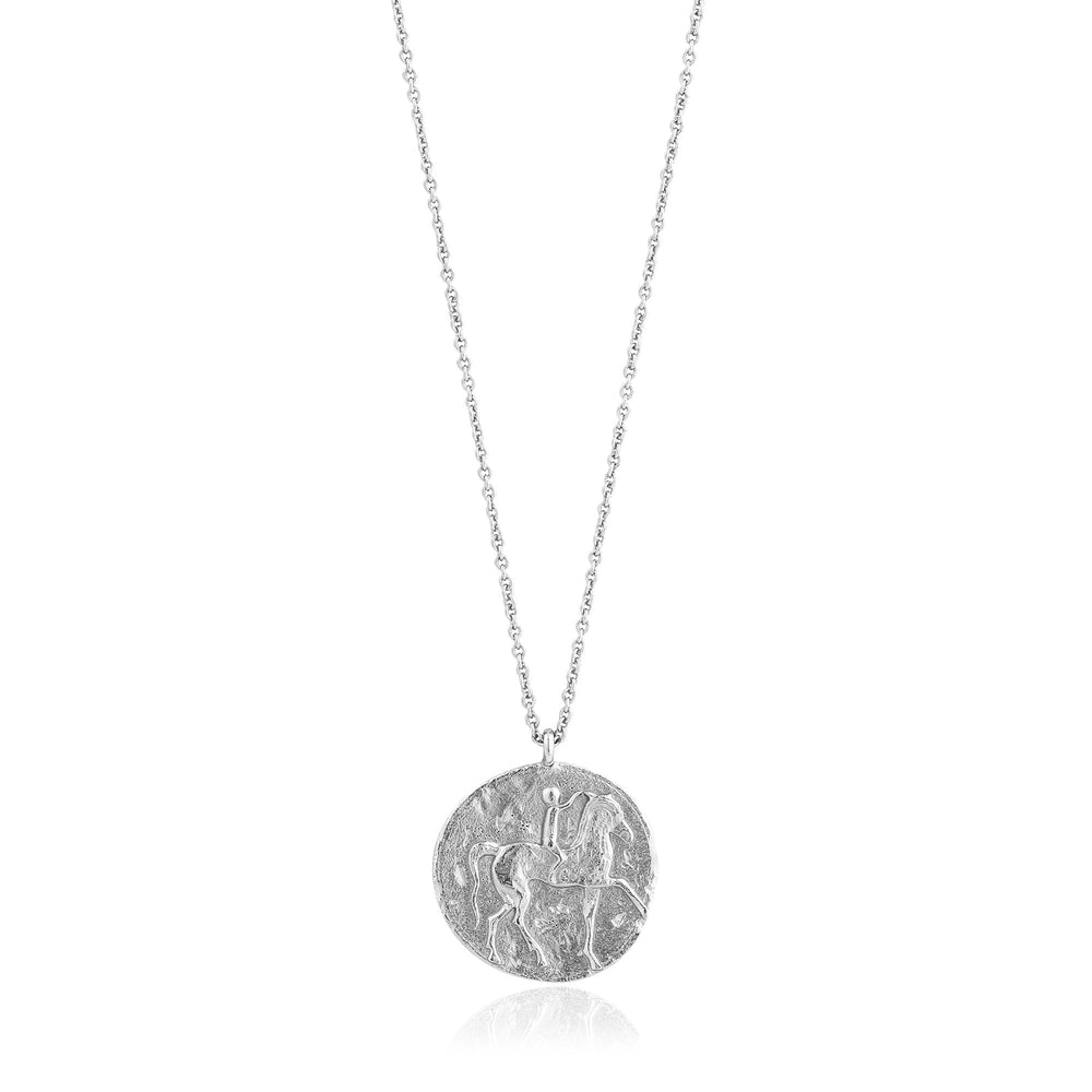 Load image into Gallery viewer, Silver Roman Rider Necklace