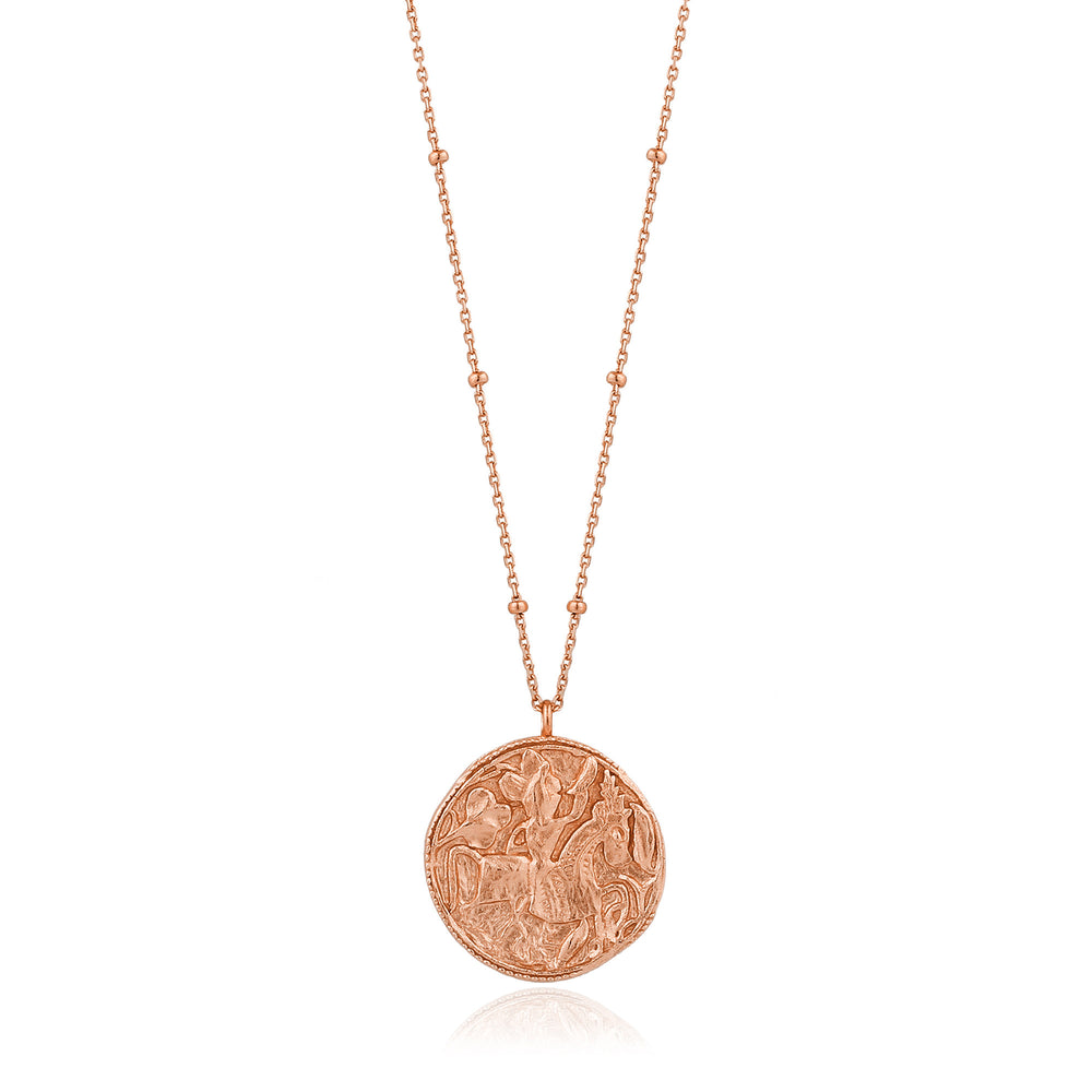 Rose Gold Greek Warrior Necklace