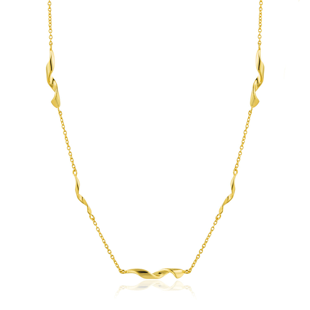 Gold Helix Necklace