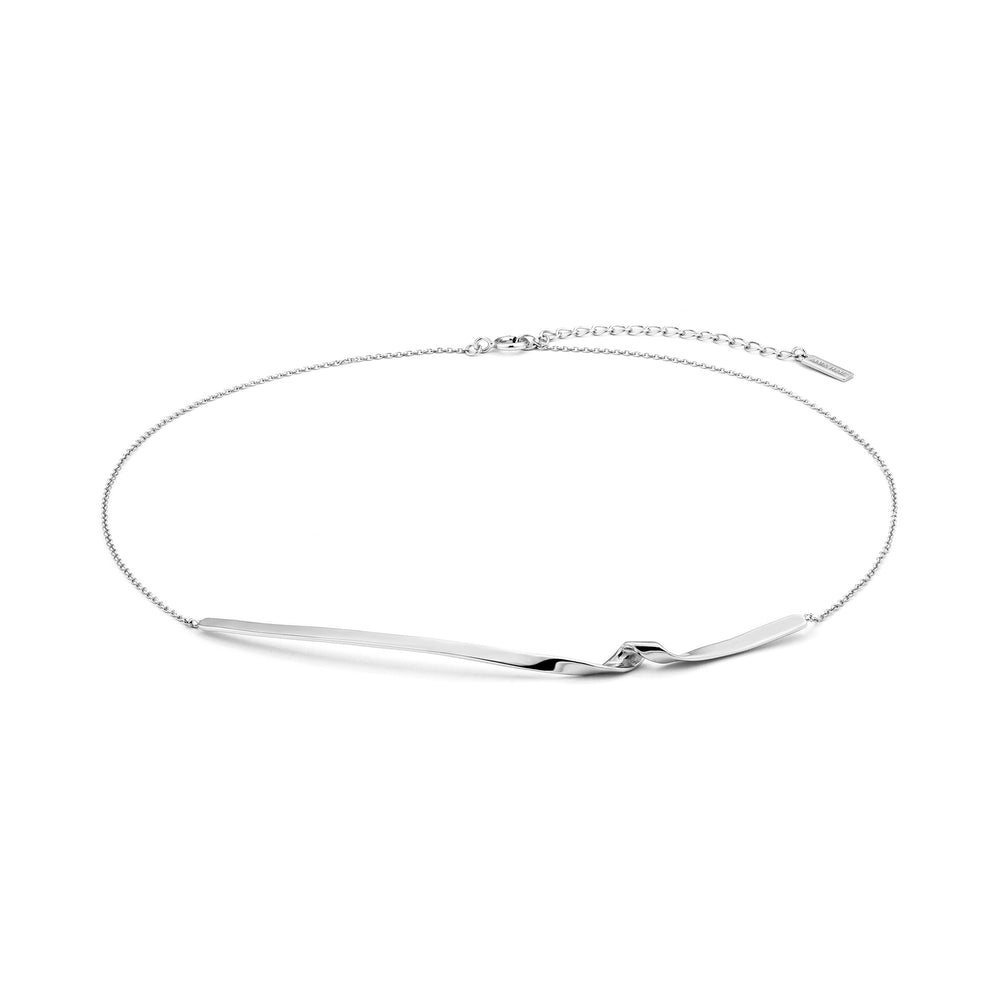 Silver Twist Collar Necklace