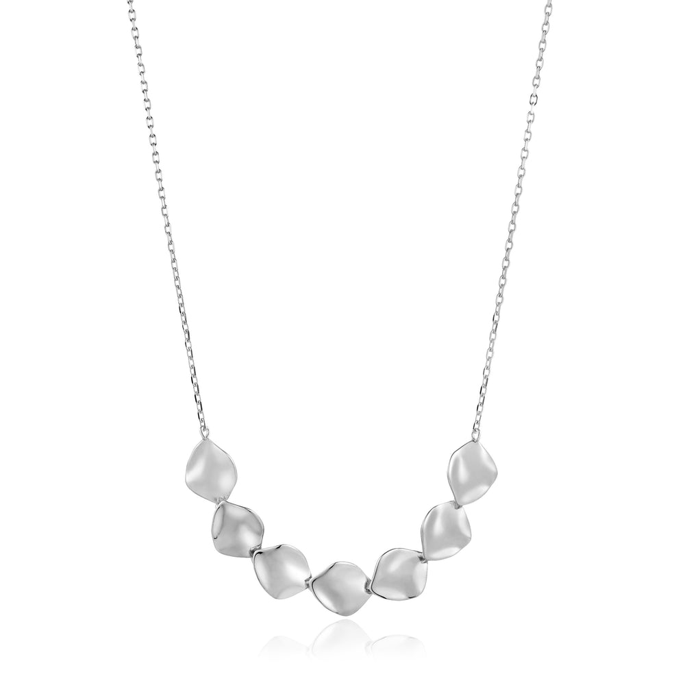 Silver Crush Multiple Discs Necklace