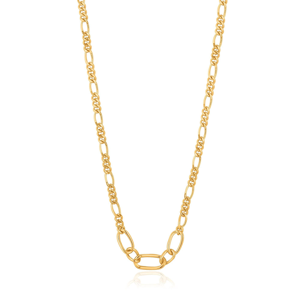 Load image into Gallery viewer, Gold Figaro Chain Necklace