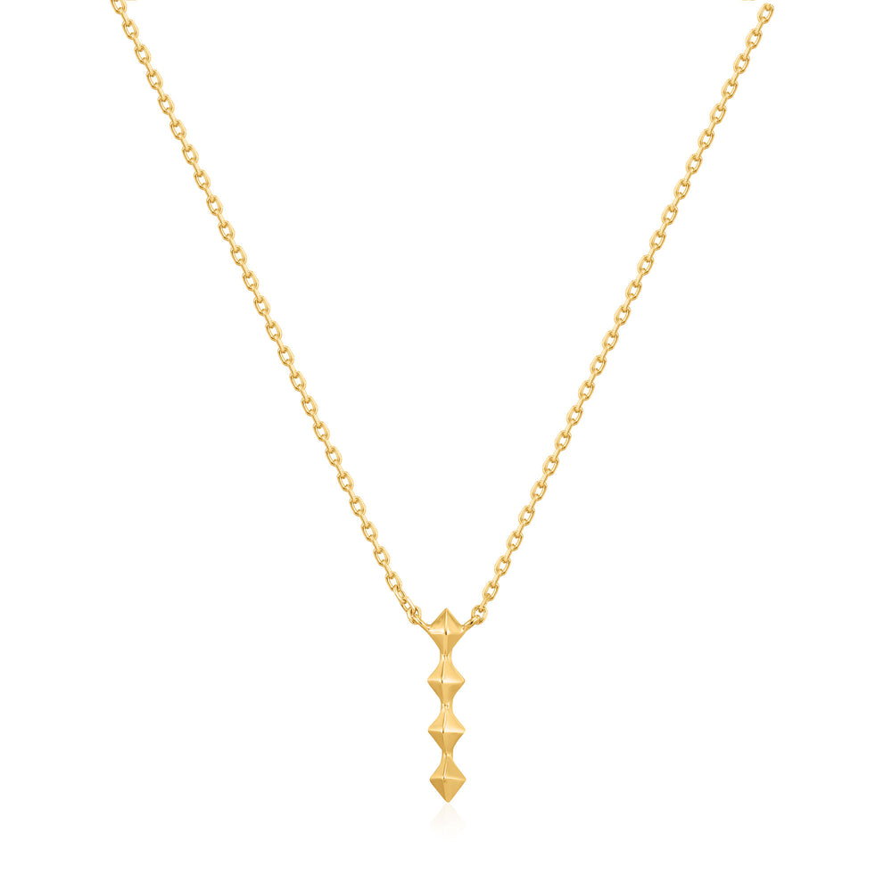 Gold Spike Drop Necklace