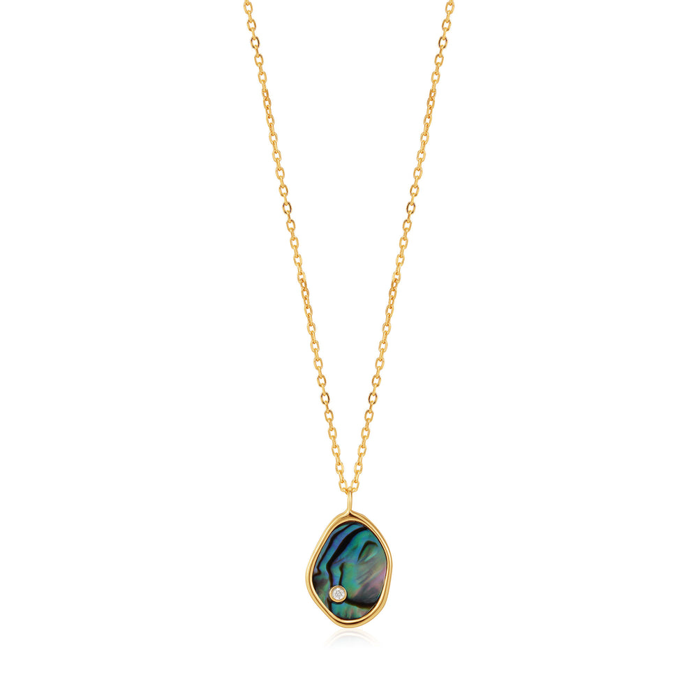 Gold Tidal Abalone Necklace
