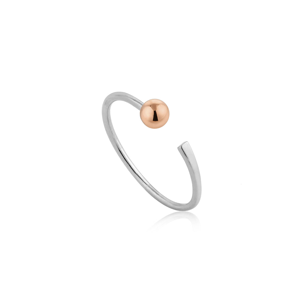Silver Orbit Flat Adjustable Ring