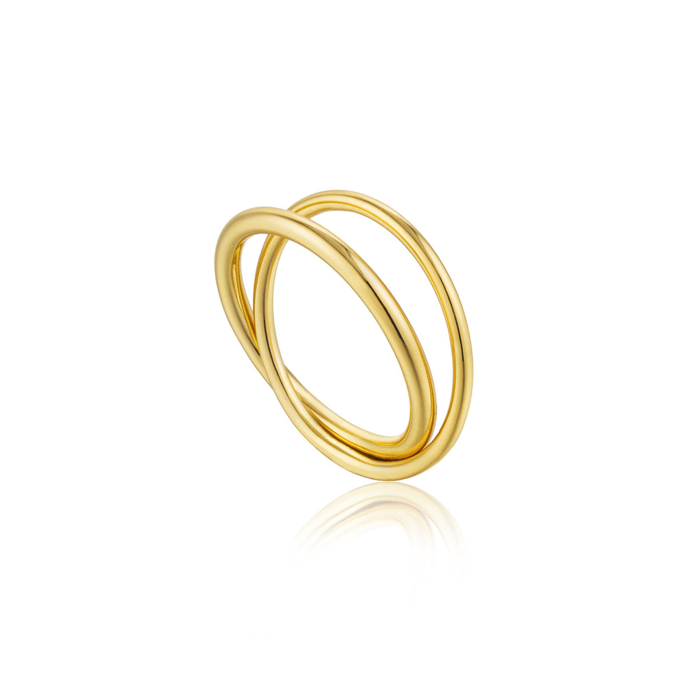 Gold Modern Double Wrap Ring
