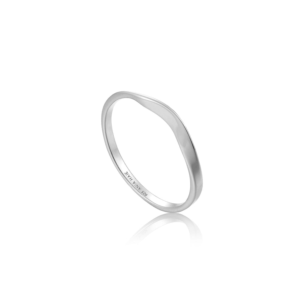 Silver Modern Curve Ring