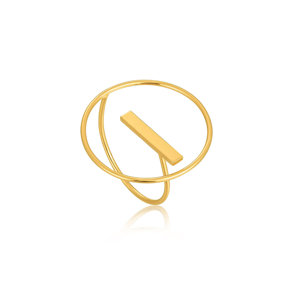 Gold Modern Circle Adjustable Ring