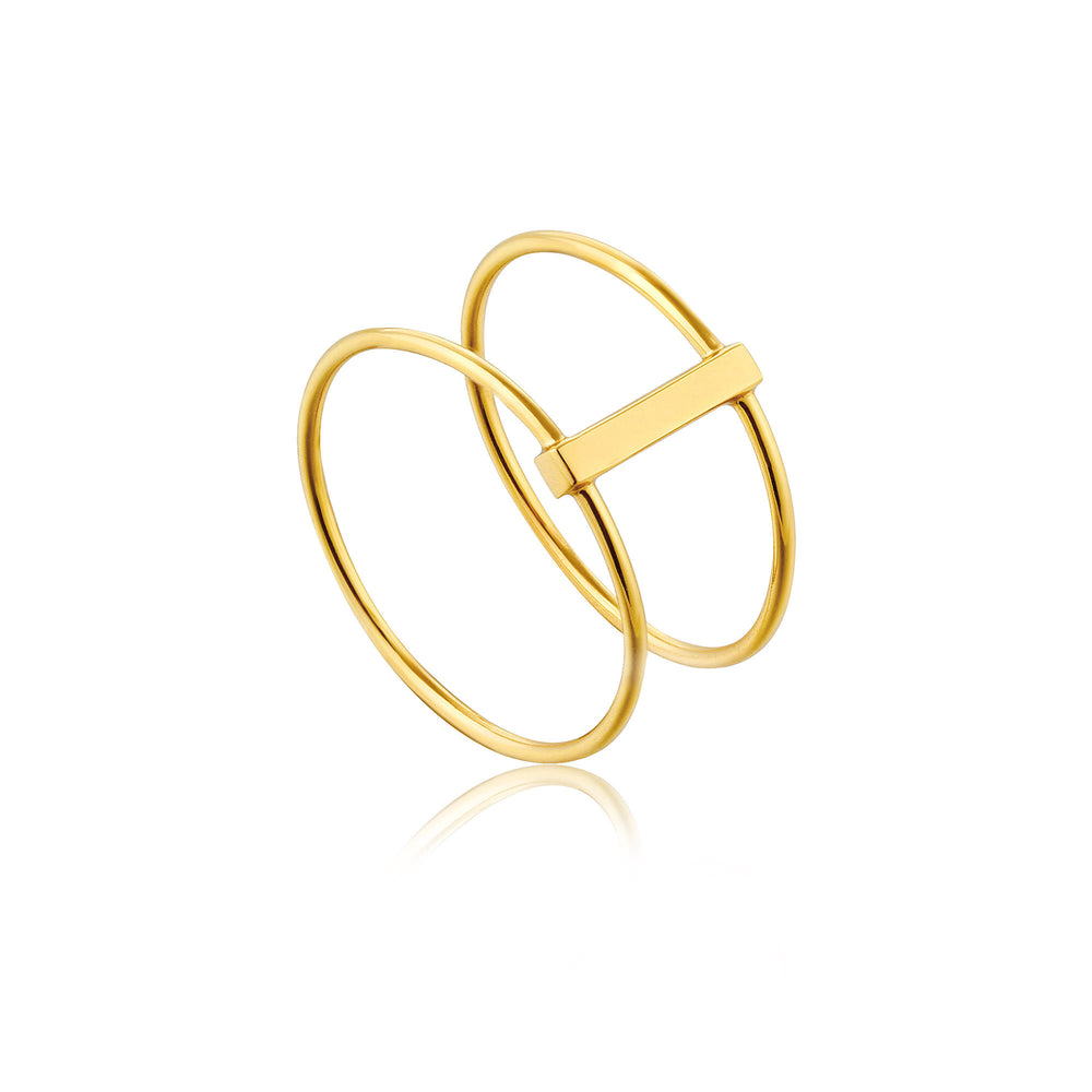 Gold Modern Double Ring