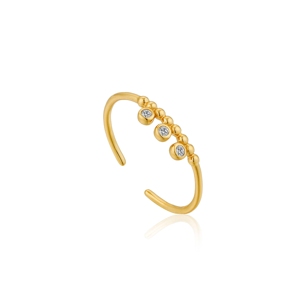 Gold Shimmer Triple Stud Adjustable Ring