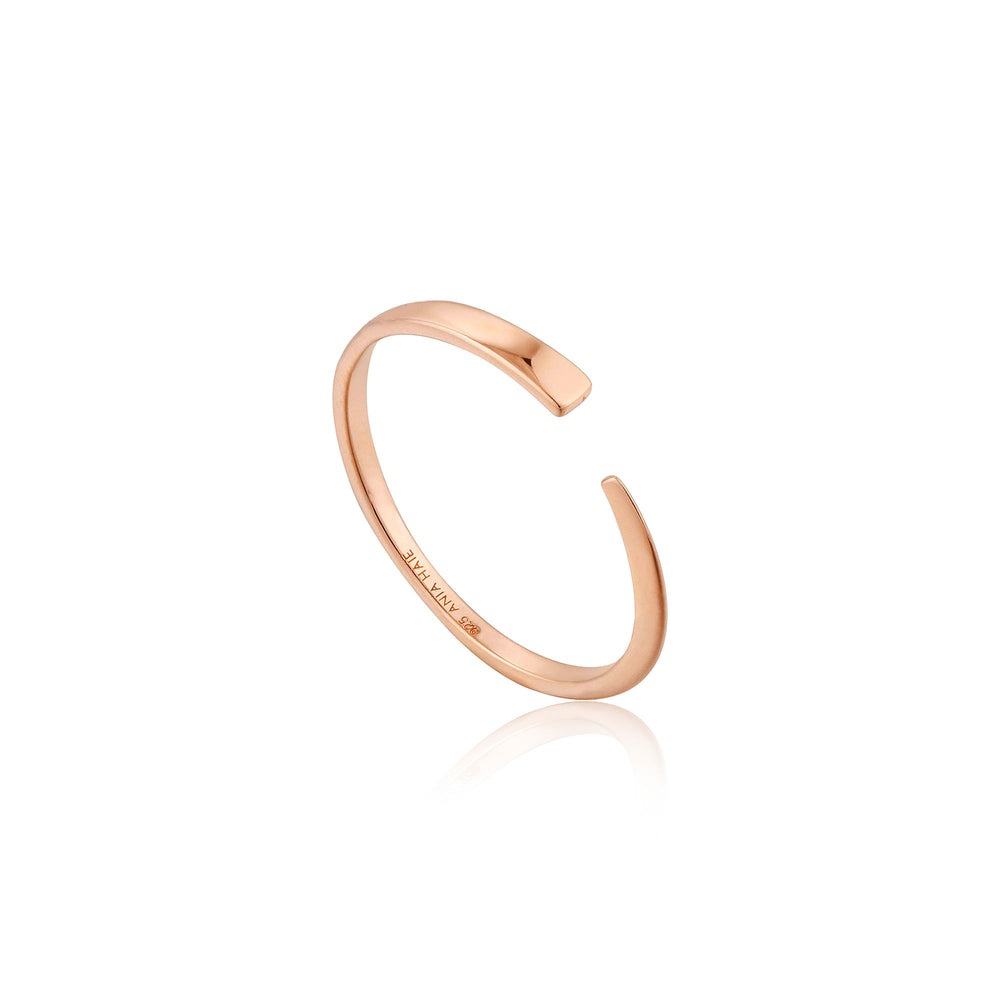 Rose Gold Geometry Flat Adjustable Ring