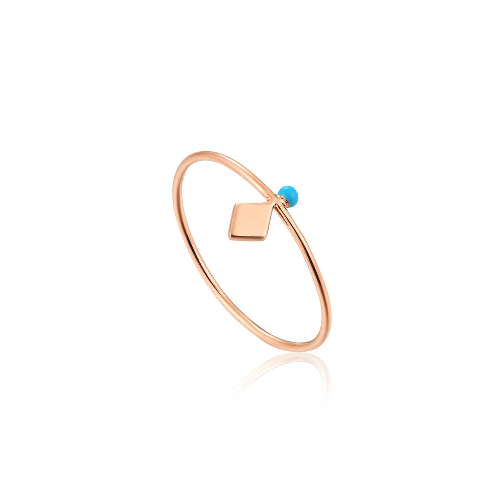 Rose Gold Dotted Stud Ring